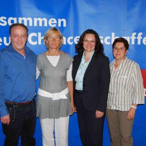 Drei starke Frauen mit dem Bürgermeisterkandidat der SPD für Kreuzau
