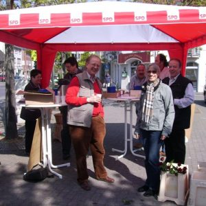 SPD Infostand in Kreuzau